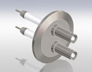 Coaxial,SHV, 10 KV/Single Ended - Grounded Shield, Exposed Insulator, ISO-KF Flange
